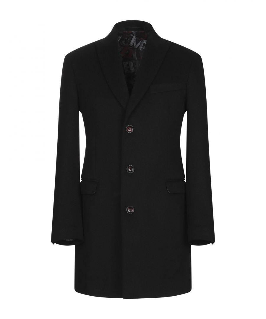 Image for Alessandro Dell'Acqua Black Wool Overcoat