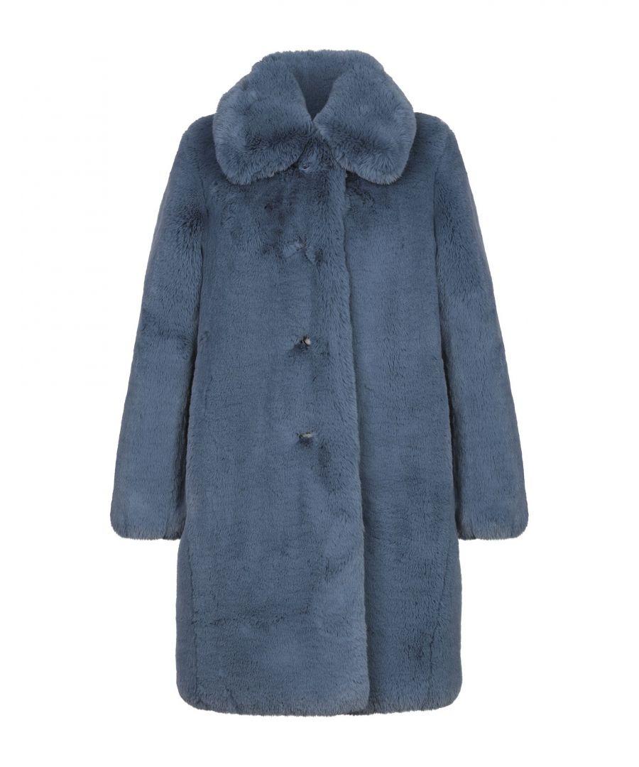 Image for Marc Jacobs Women's Teddy Coat Slate Blue Polyester
