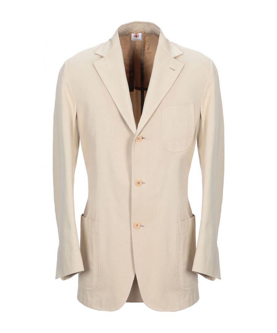 Image for Luigi Borrelli Napoli Beige Cotton Single Breasted Jacket