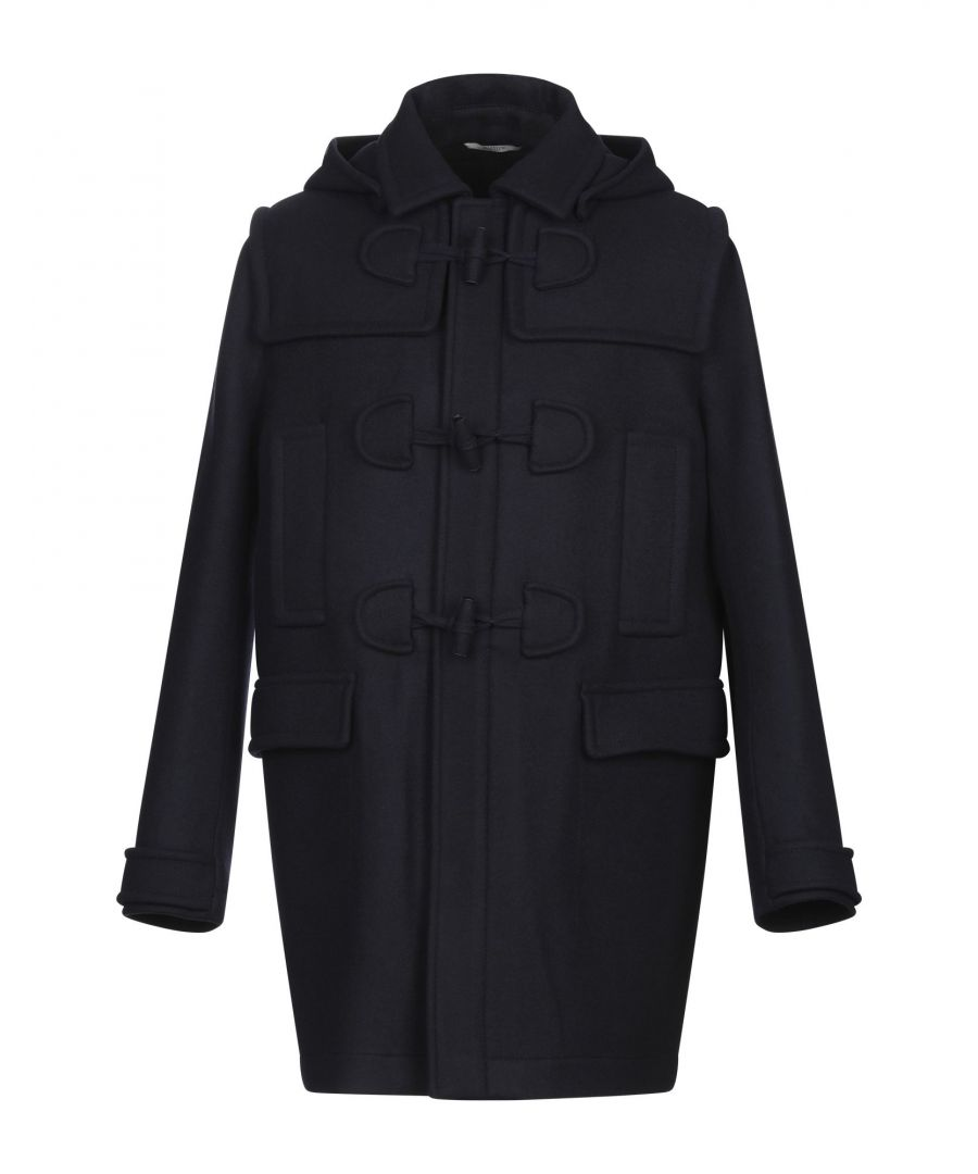 Image for Valentino Dark Blue Wool Overcoat