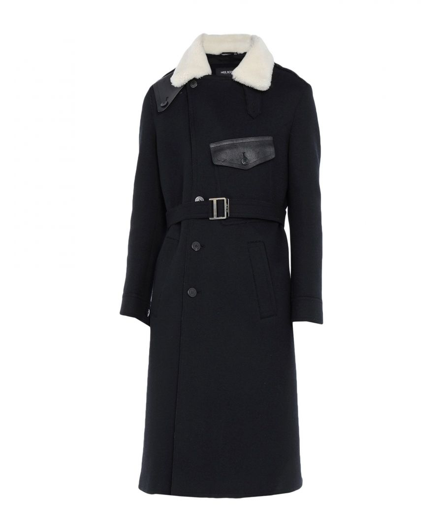 Image for Neil Barrett Black Angora Overcoat
