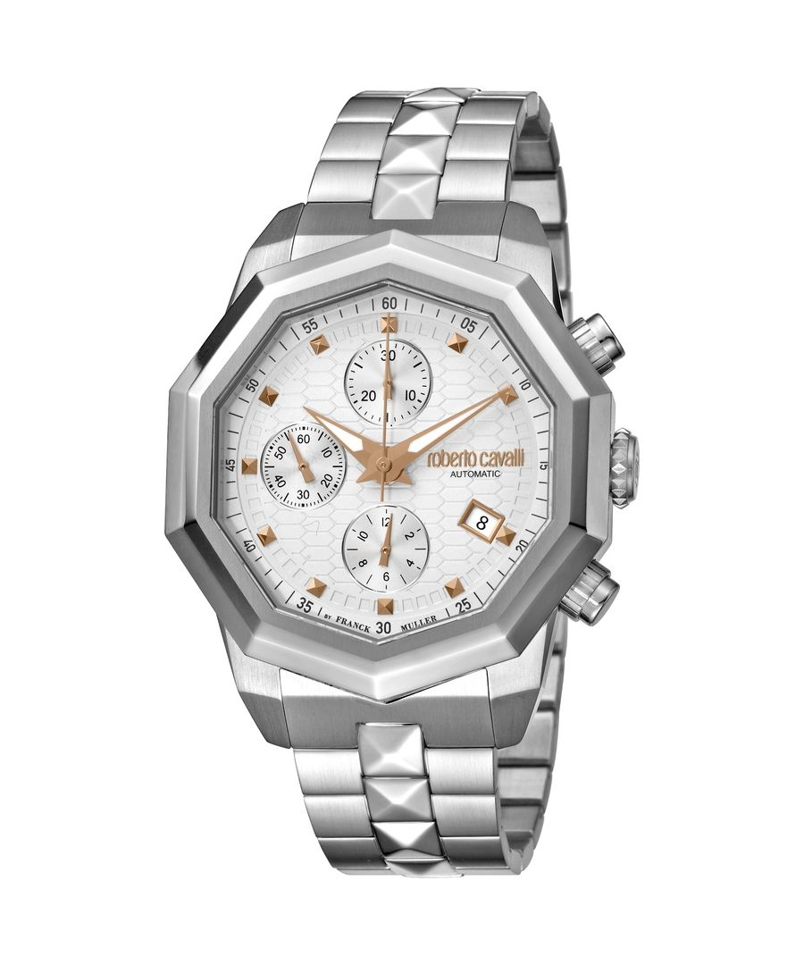 Image for Roberto Cavalli Mens Silver Dial Stainless Steel Watch