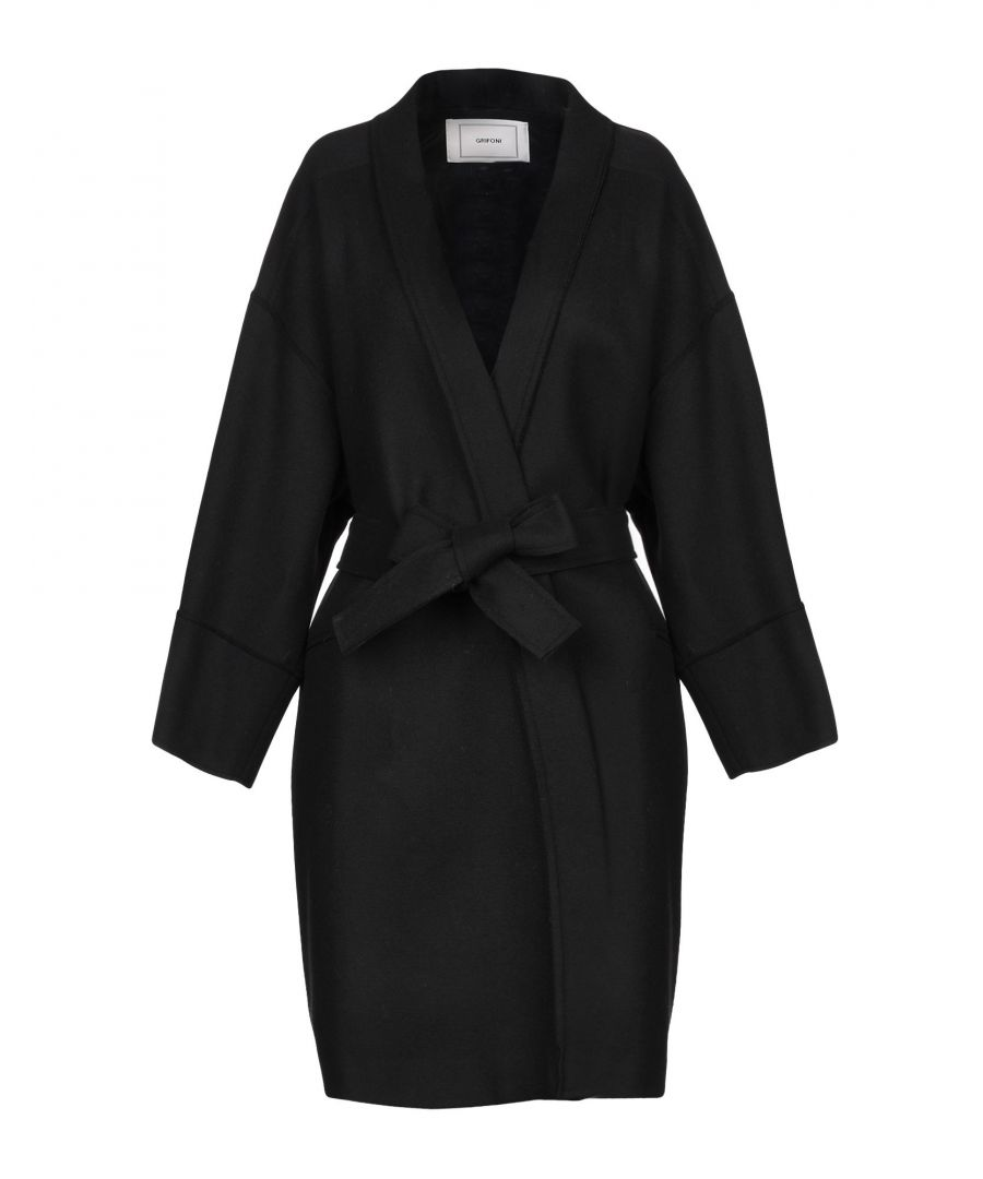 Image for Mauro Grifoni Black Wool Belted Coat