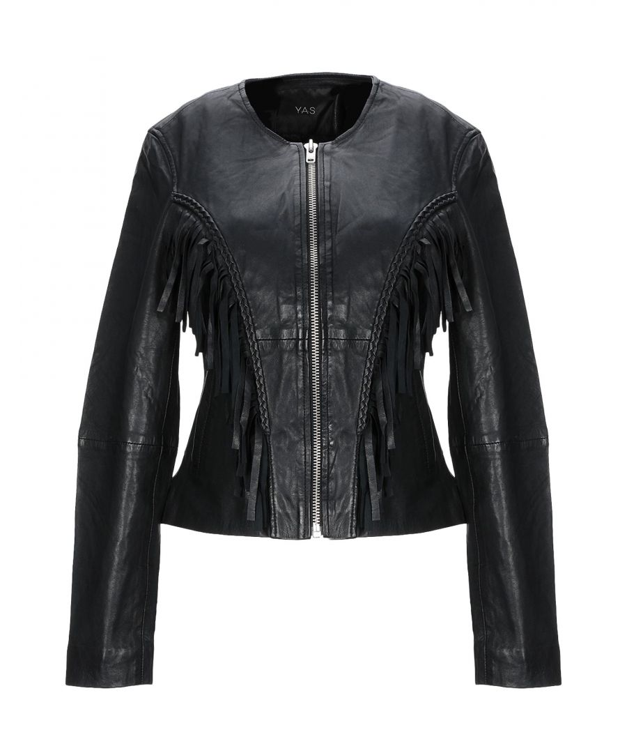 Image for Y.A.S. Black Lambskin Leather Jacket