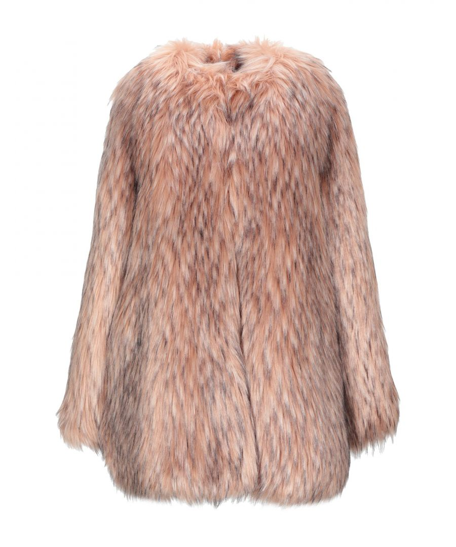 Image for Pink Memories Pink Faux Fur Coat