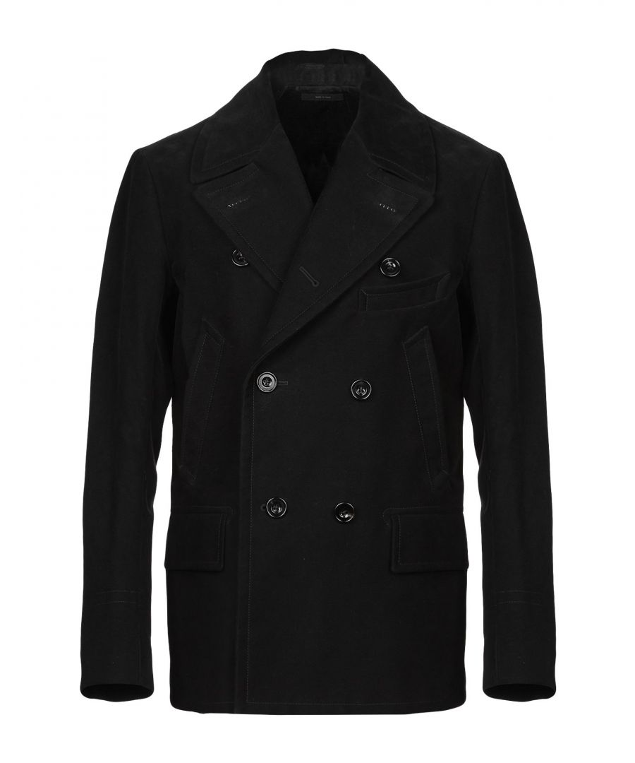 Image for Tom Ford Black Cotton Double Breasted Coat