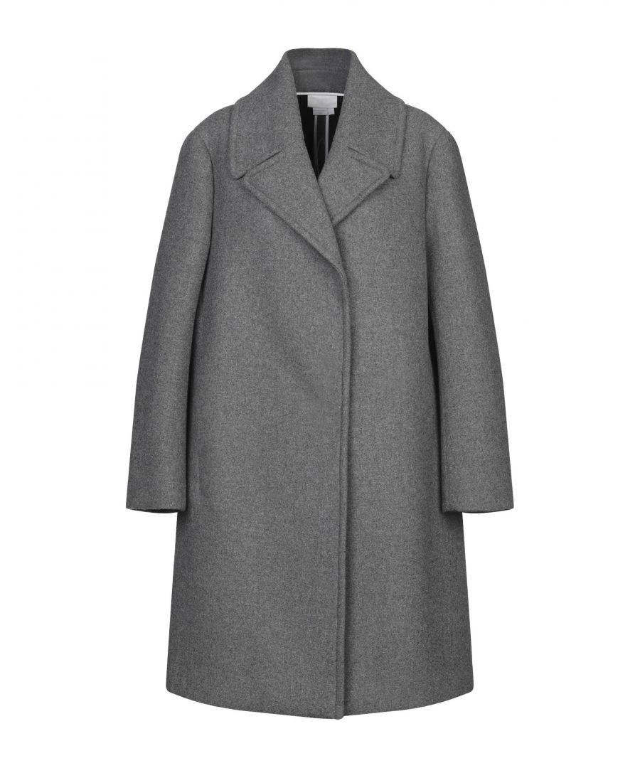 Image for DKNY Grey Wool Overcoat