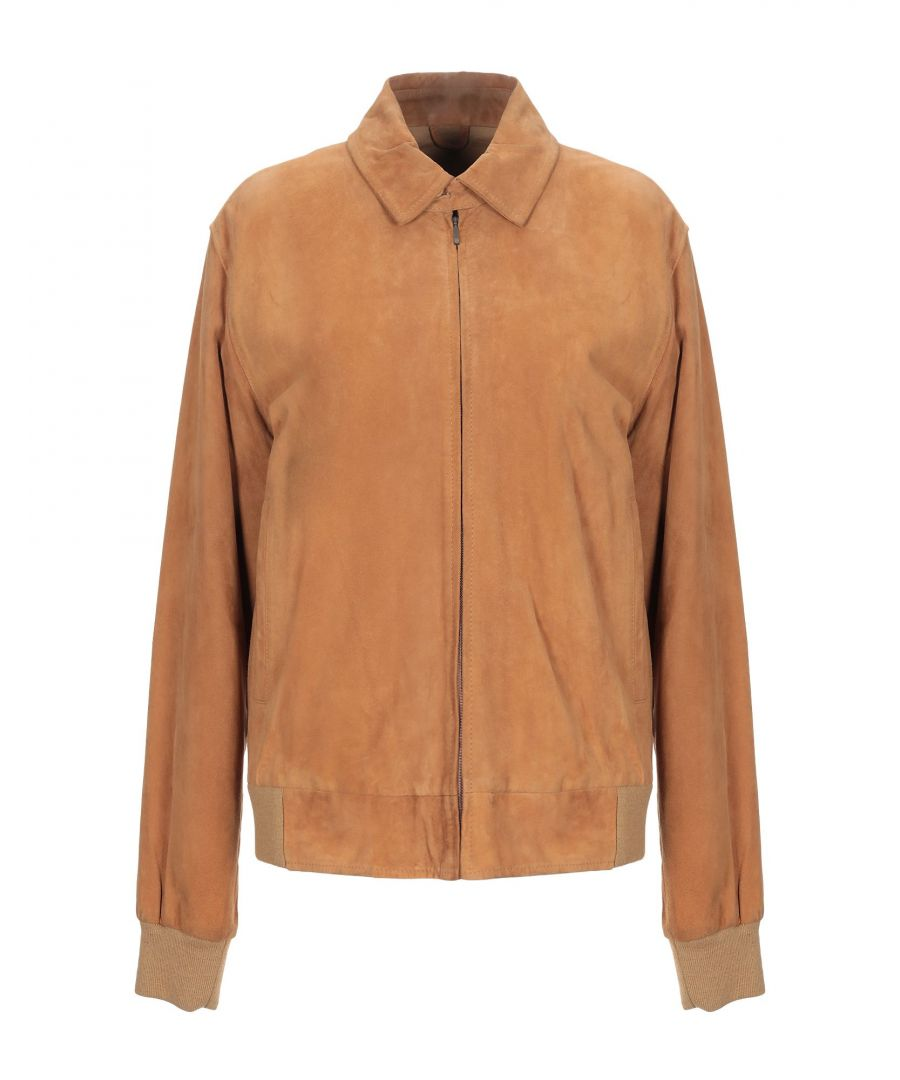 Image for Stefanel Camel Leather Jacket