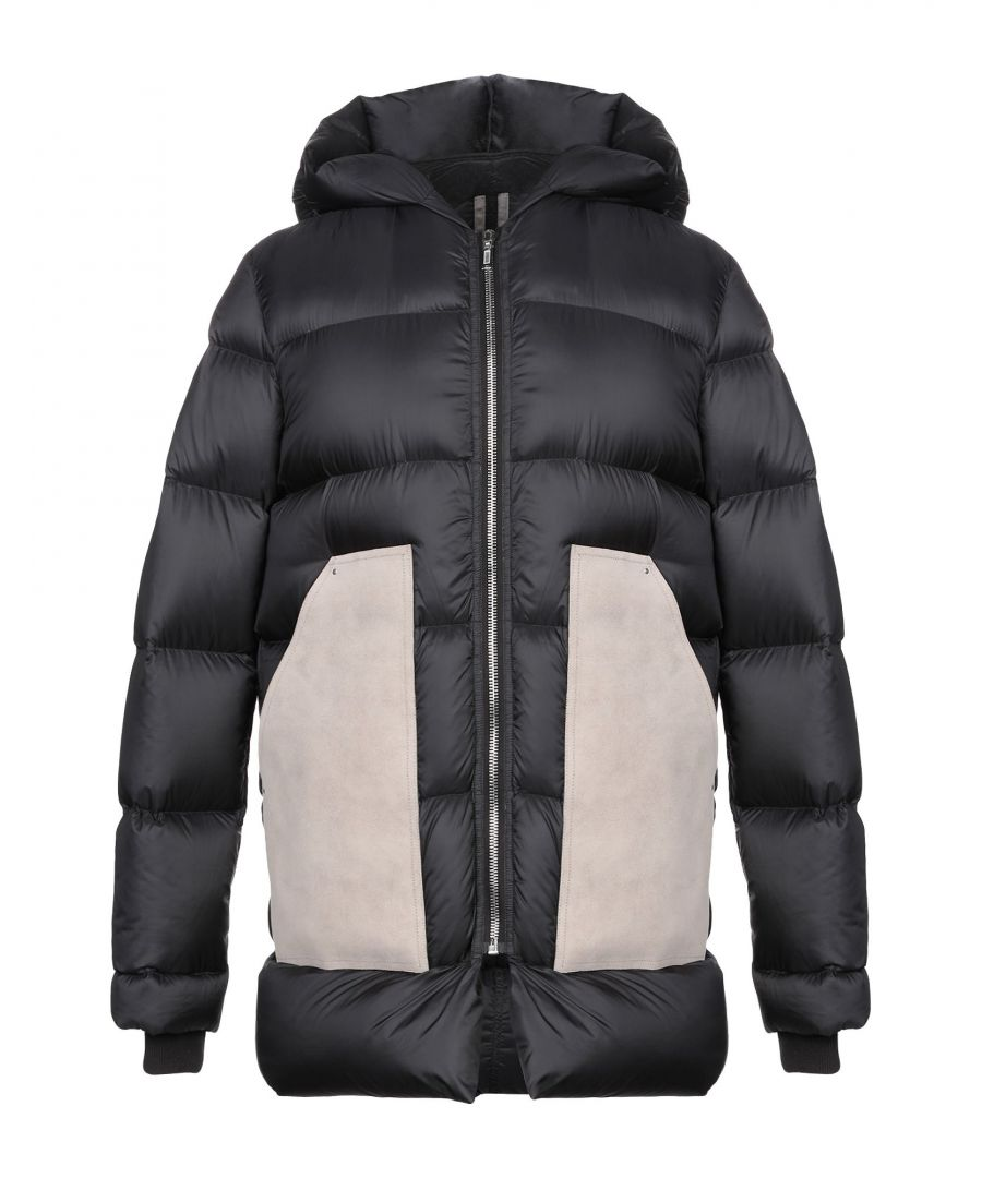 Image for Rick Owens Black Techno Fabric Padded Jacket
