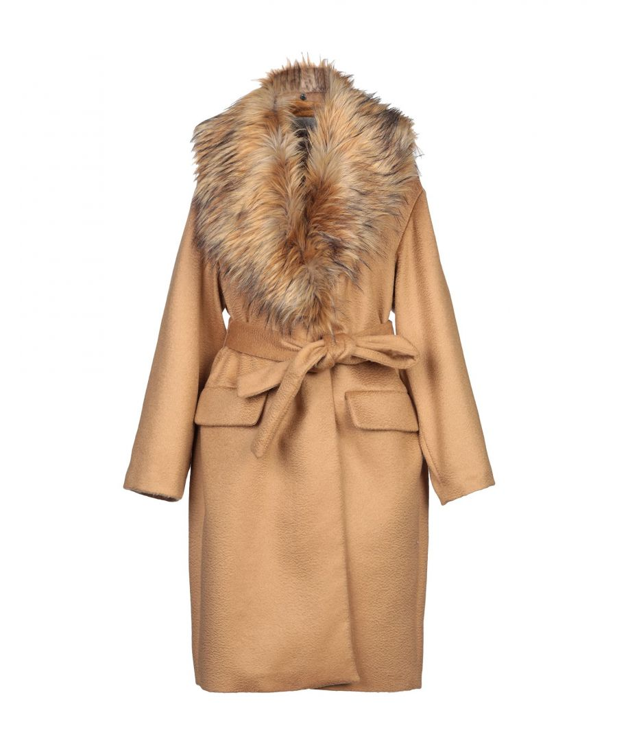 Image for L' Autre Chose Camel Virgin Wool Belted Coat