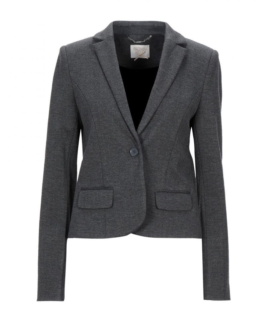 Image for Fracomina Steel Grey Herringbone Single Breasted Jacket