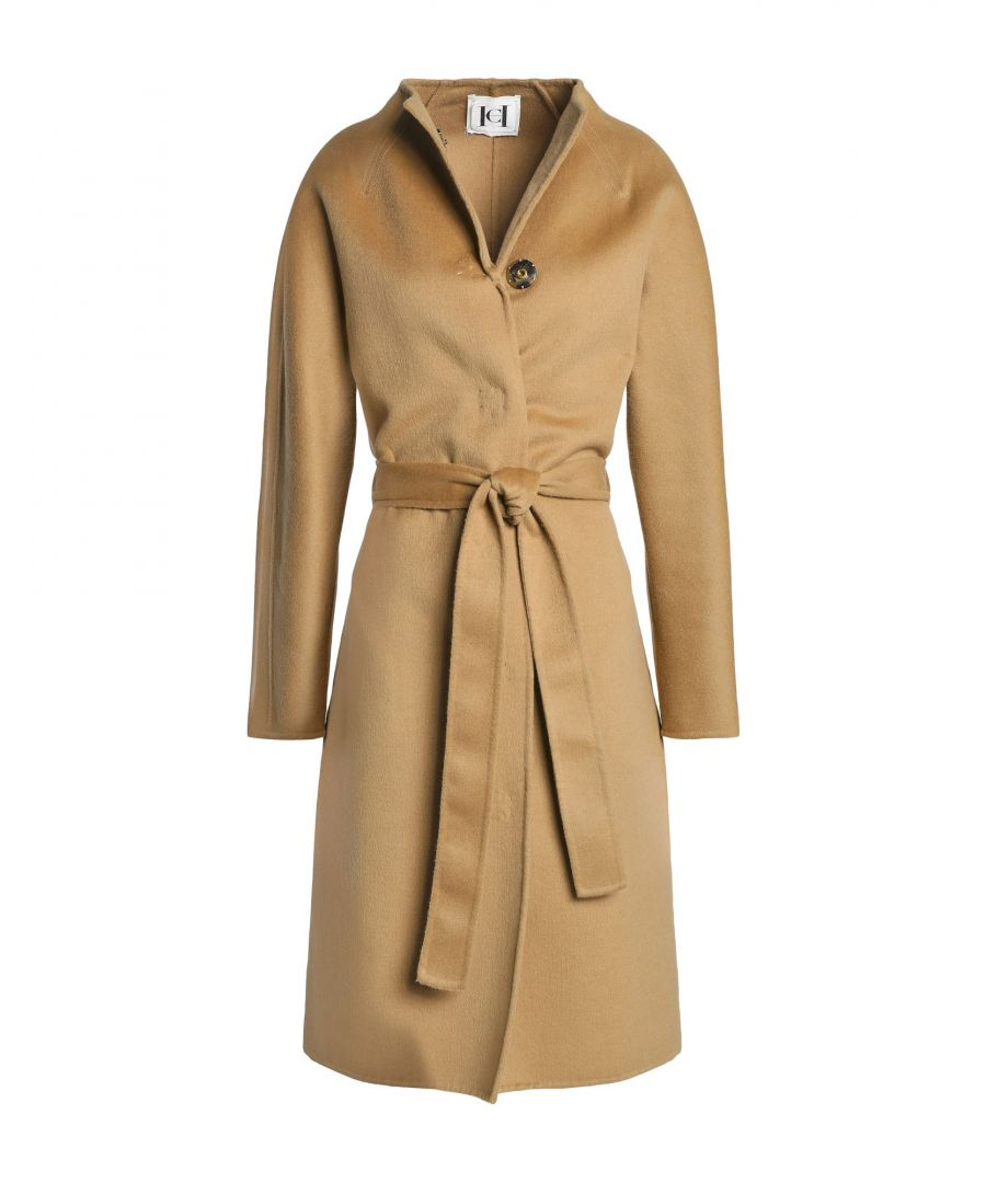 Image for Carolina Herrera Sand Virgin Wool Coat