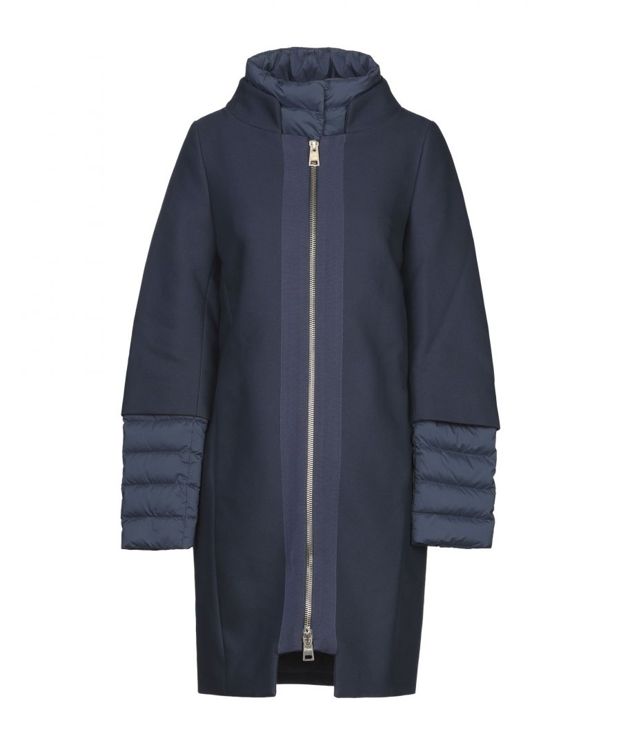 Image for Herno Dark Blue Cotton Padded Coat