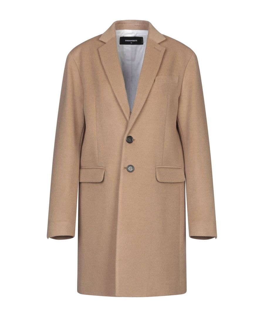 Image for Dsquared2 Camel Overcoat