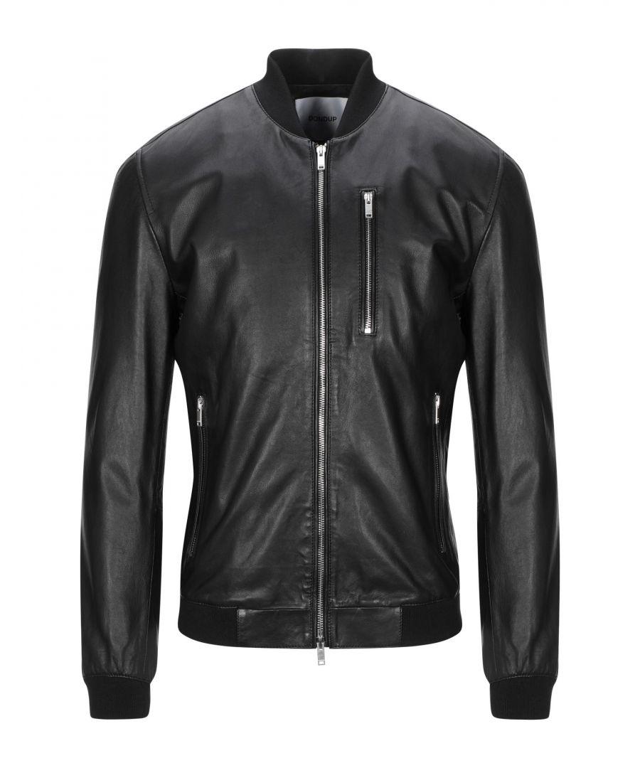 Image for Dondup Black Lambskin Leather Jacket
