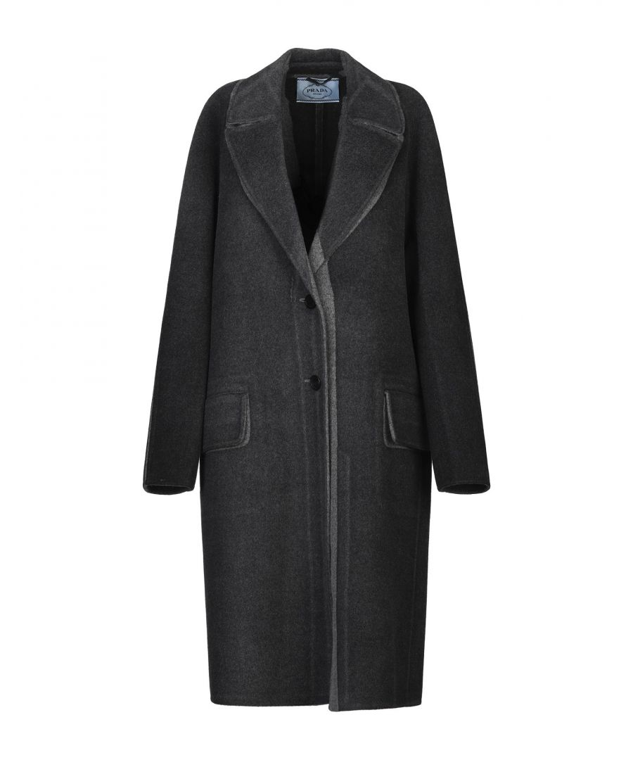Image for Prada Steel Grey Virgin Wool Overcoat