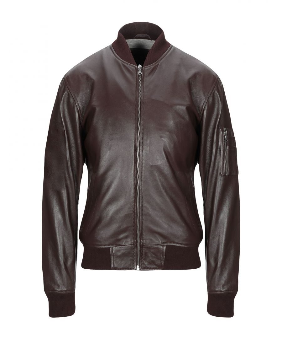 Image for Hackett Dark Brown Lambskin Leather Jacket