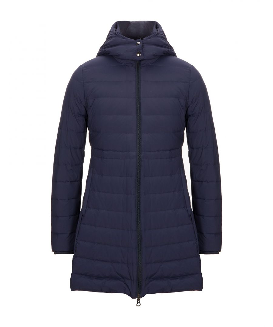 Image for Woolrich Dark Blue Techno Fabric Padded Coat