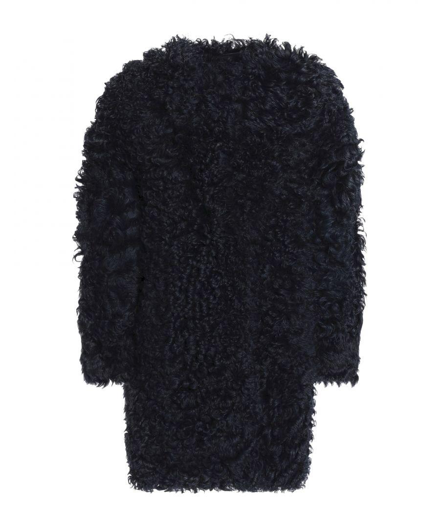 Image for Karl Donoghue Dark Blue Lambskin Overcoat