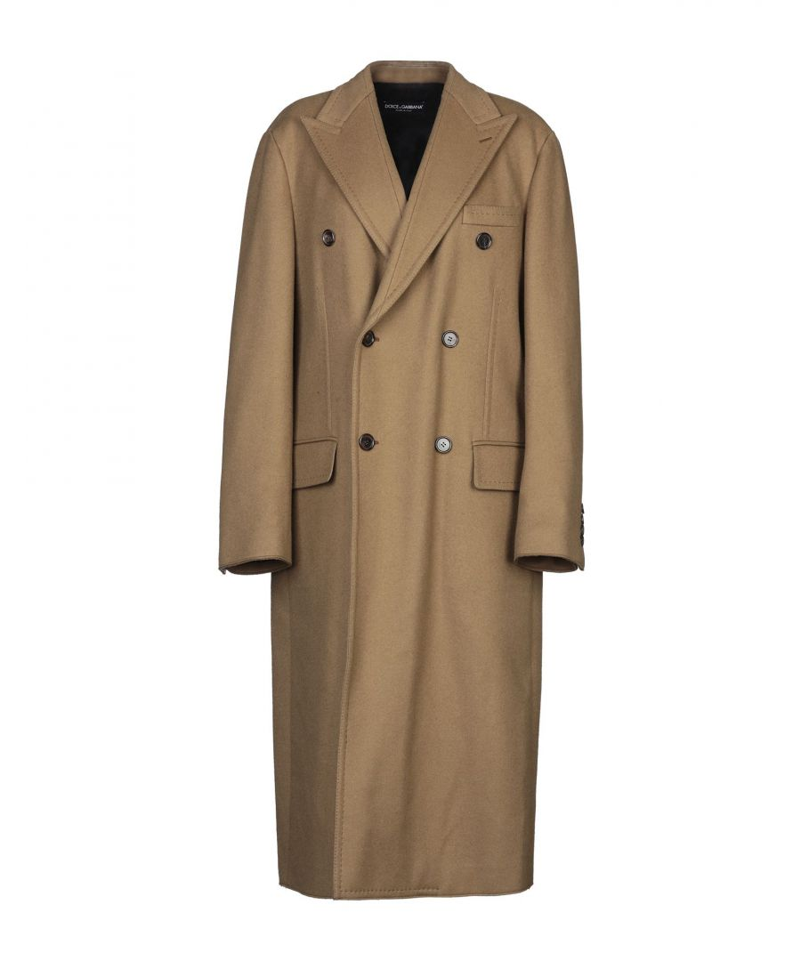Image for Dolce & Gabbana Camel Virgin Wool Double Breasted Overcoat