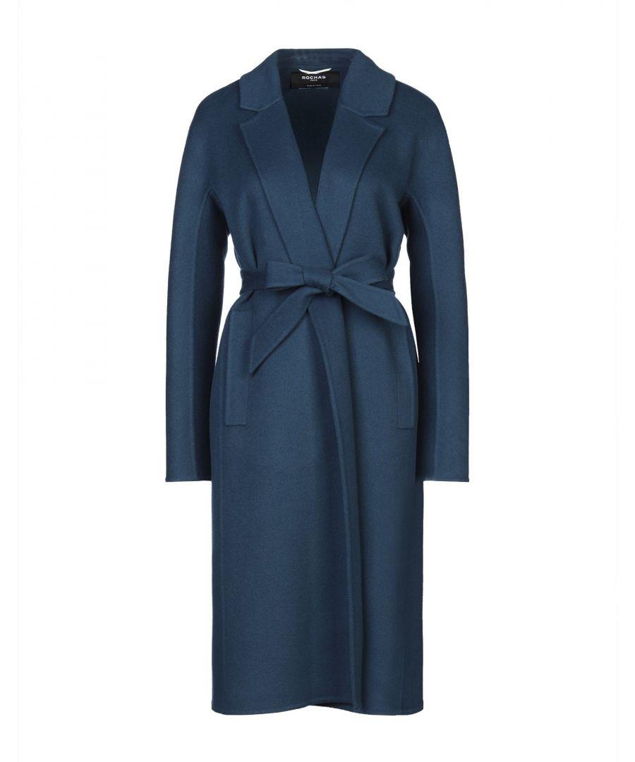 Image for Rochas Deep Jade Virgin Wool Belted Coat