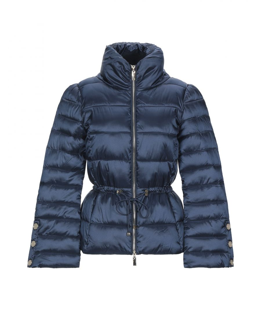 Image for Nenette Dark Blue Quilted Padded Jacket