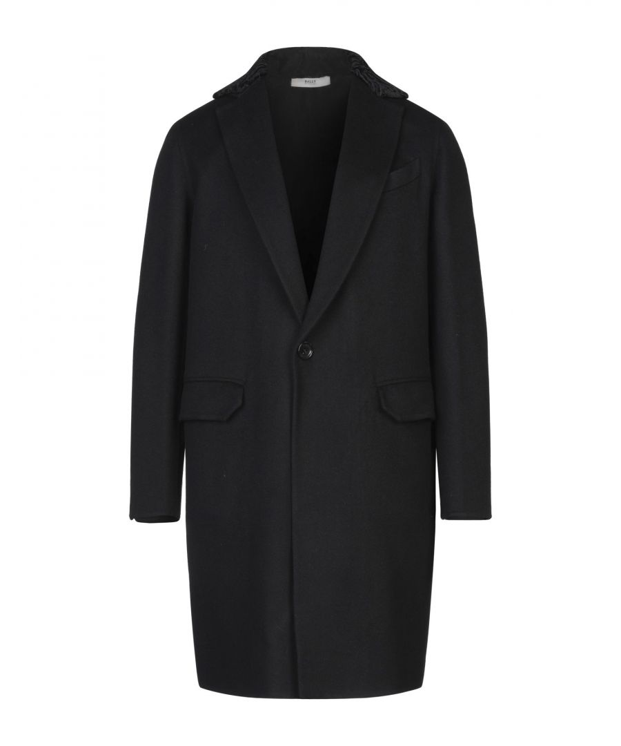 Image for Bally Black Virgin Wool Overcoat