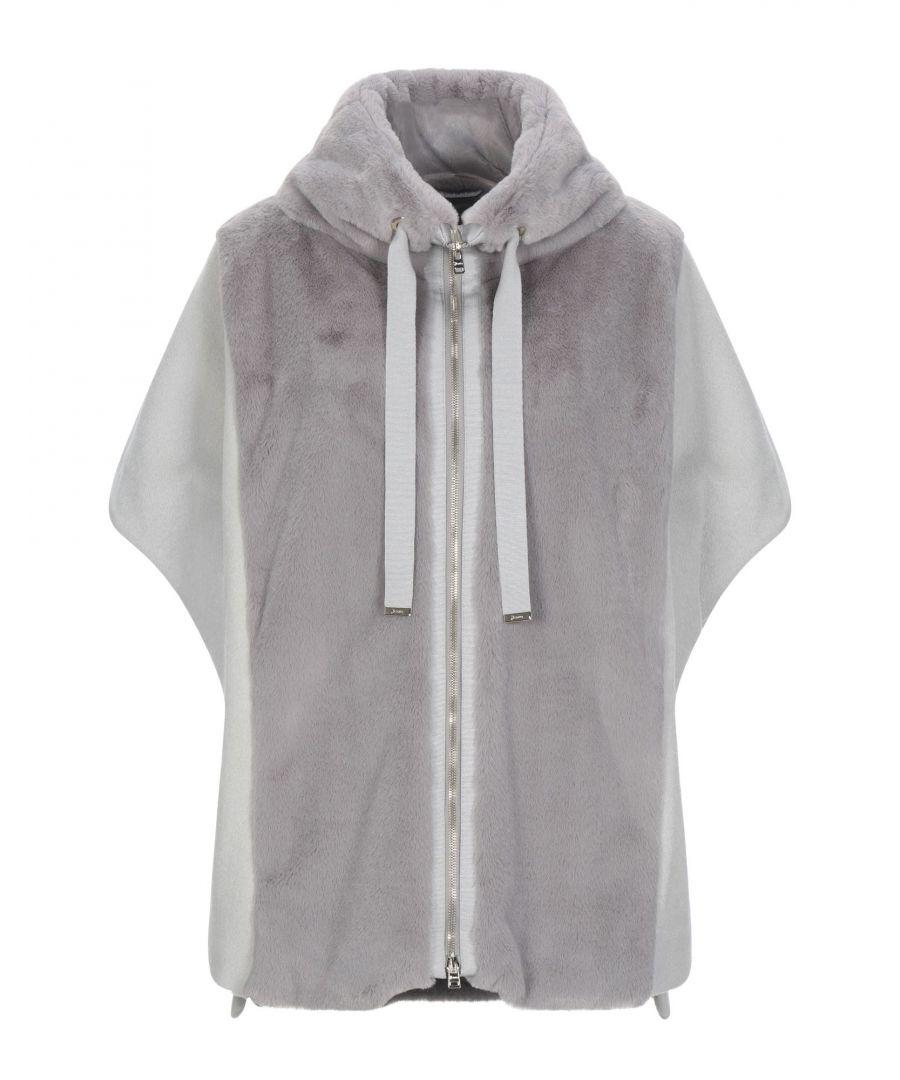 Image for Herno Grey Faux Fur Jacket