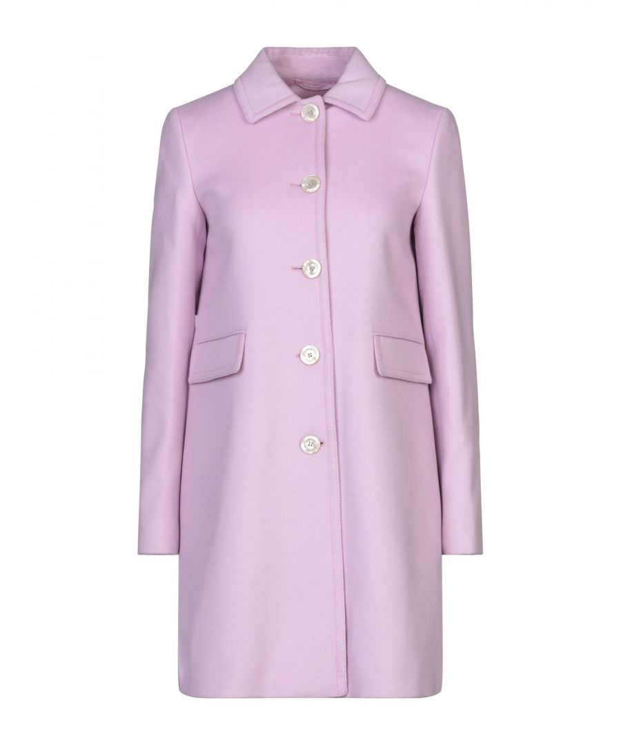 Image for Gucci Lilac Wool Overcoat