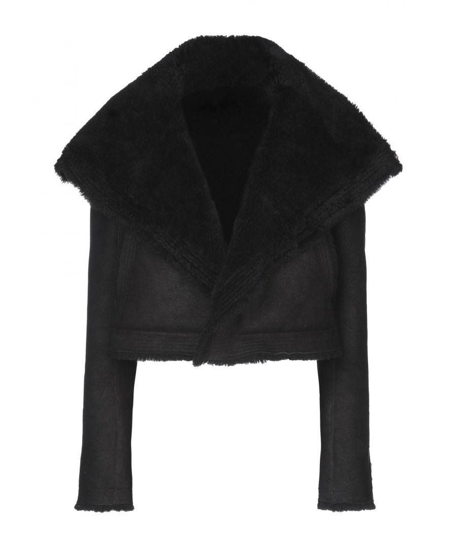 Image for Rick Owens Black Sheepskin Leather Jacket