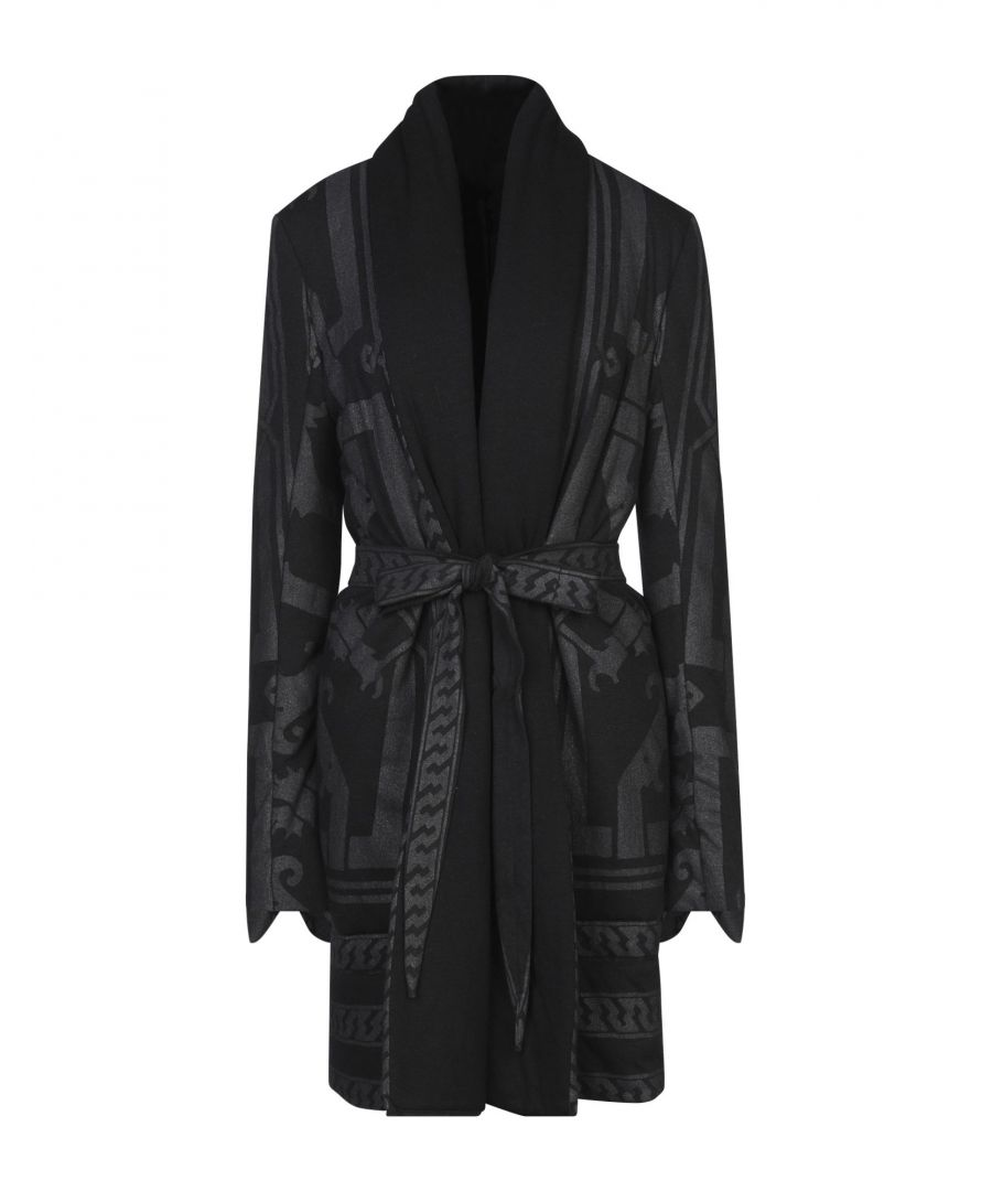 Image for Rick Owens Lilies Black Belted Wrap Coat