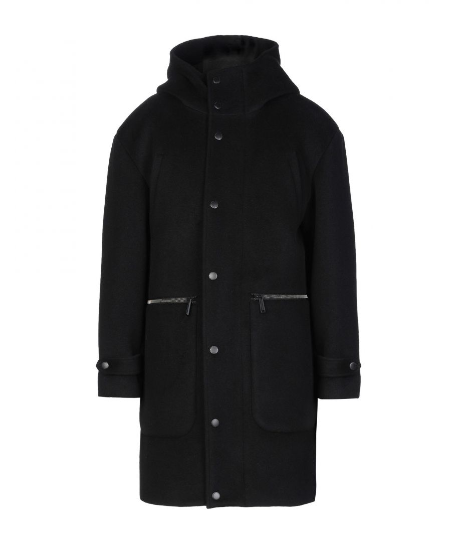 Image for Dsquared2 Black Virgin Wool Overcoat