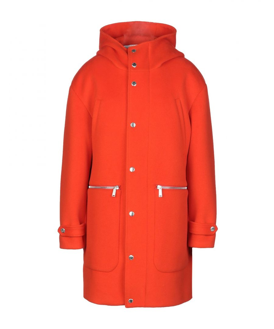 Image for Dsquared2 Orange Virgin Wool Overcoat