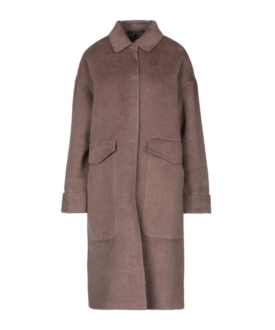 Image for Manila Grace Khaki Wool Overcoat