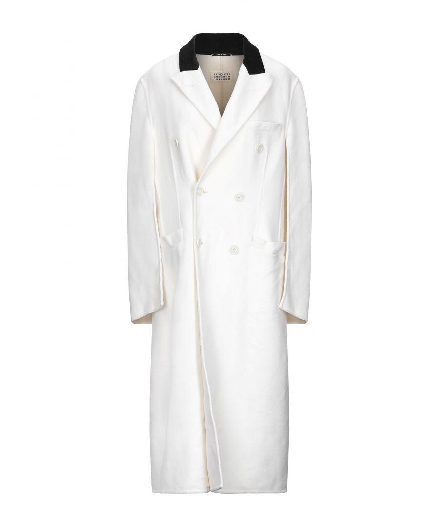 Image for Maison Margiela Ivory Virgin Wool Overcoat