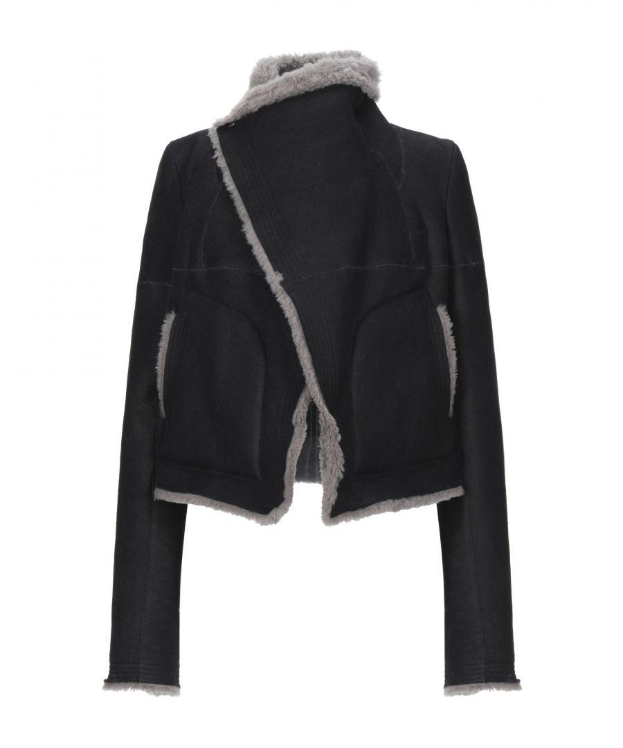 Image for Rick Owens Black Sheepskin Jacket