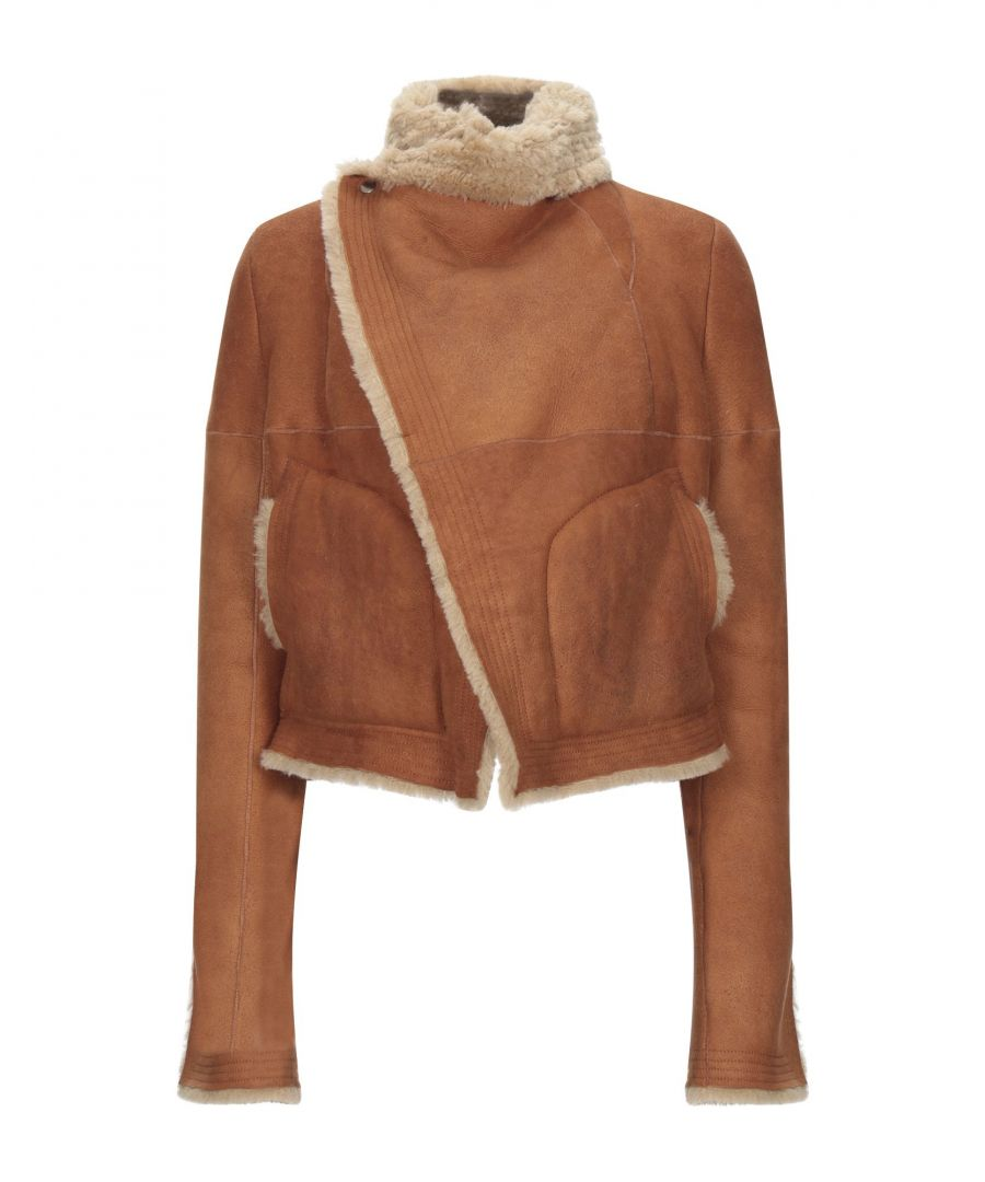 Image for Rick Owens Camel Sheepskin Jacket