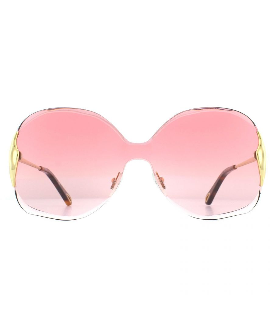 Image for Chloe Sunglasses CE162S Curtis 850 Gold Red Pink Gradient