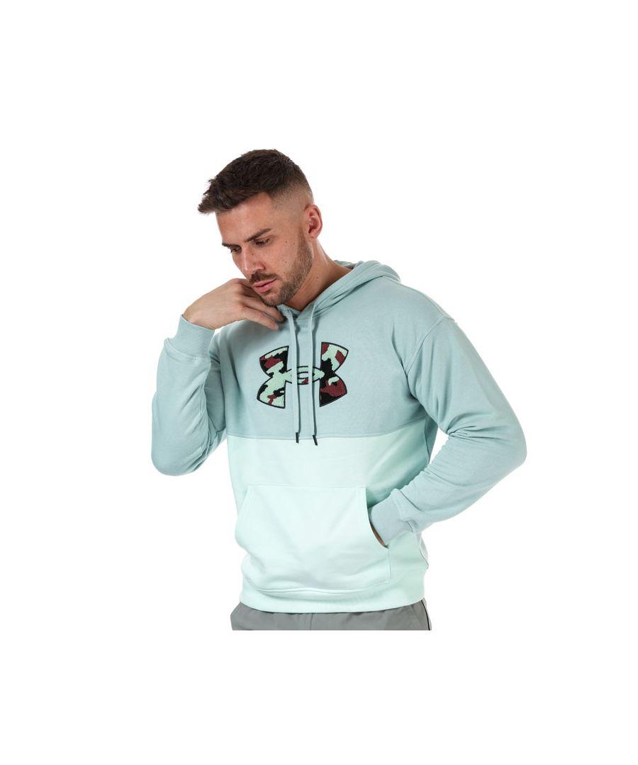 Image for Men's Under Armour Rival Fleece Colourblock Hoodie in Blue
