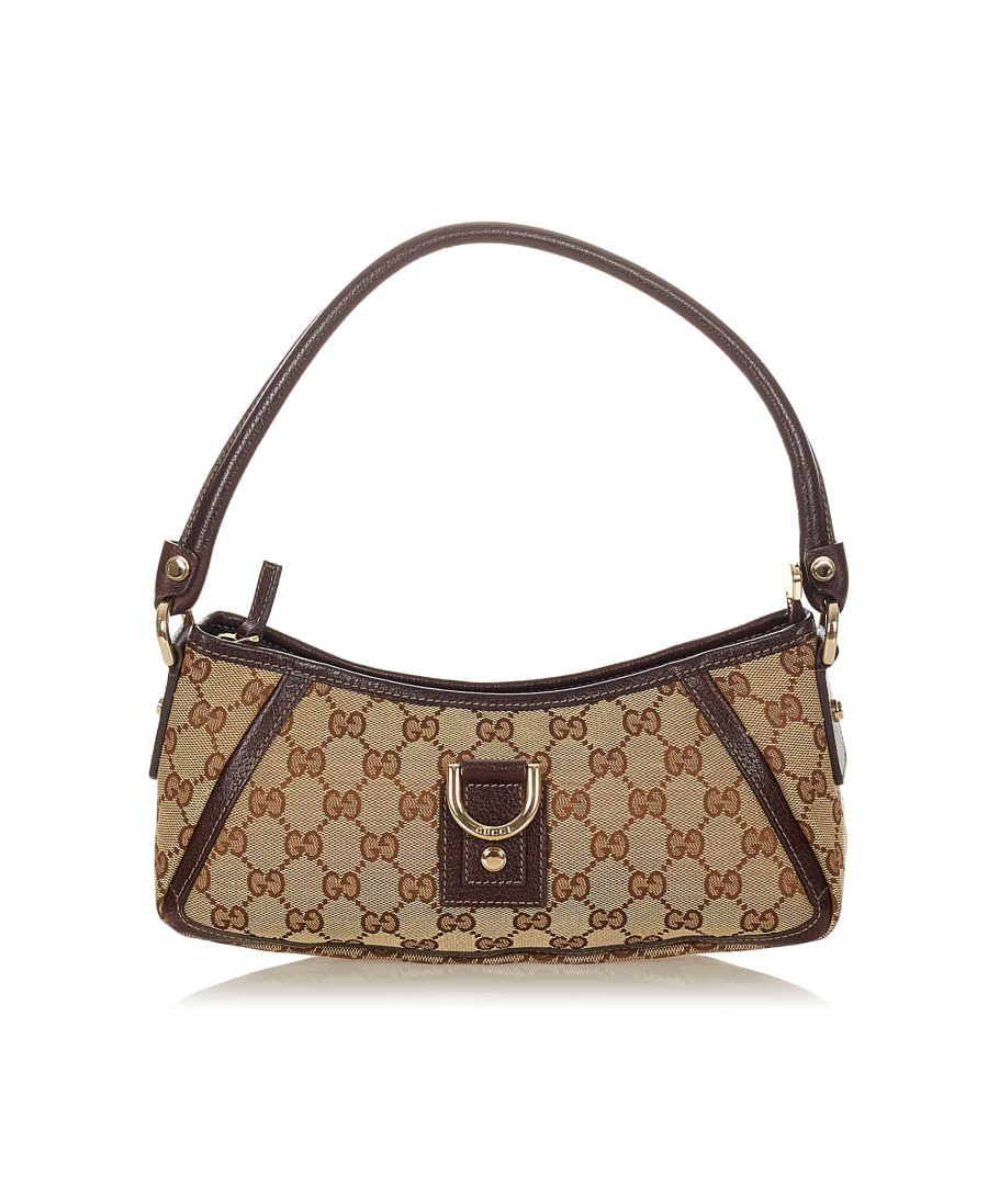 Image for Vintage Gucci GG Canvas Abbey D-Ring Baguette Brown