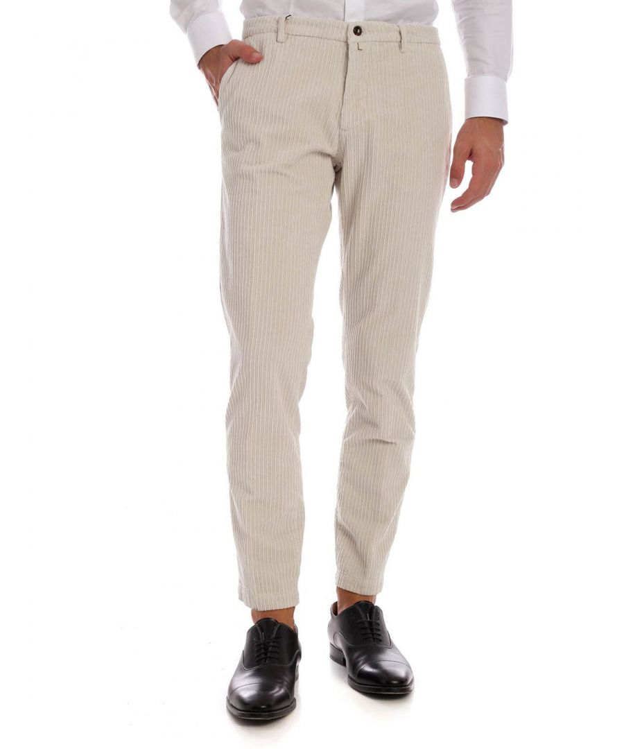 Image for BRIGLIA 1949 MEN'S BG04049721703 BEIGE COTTON PANTS