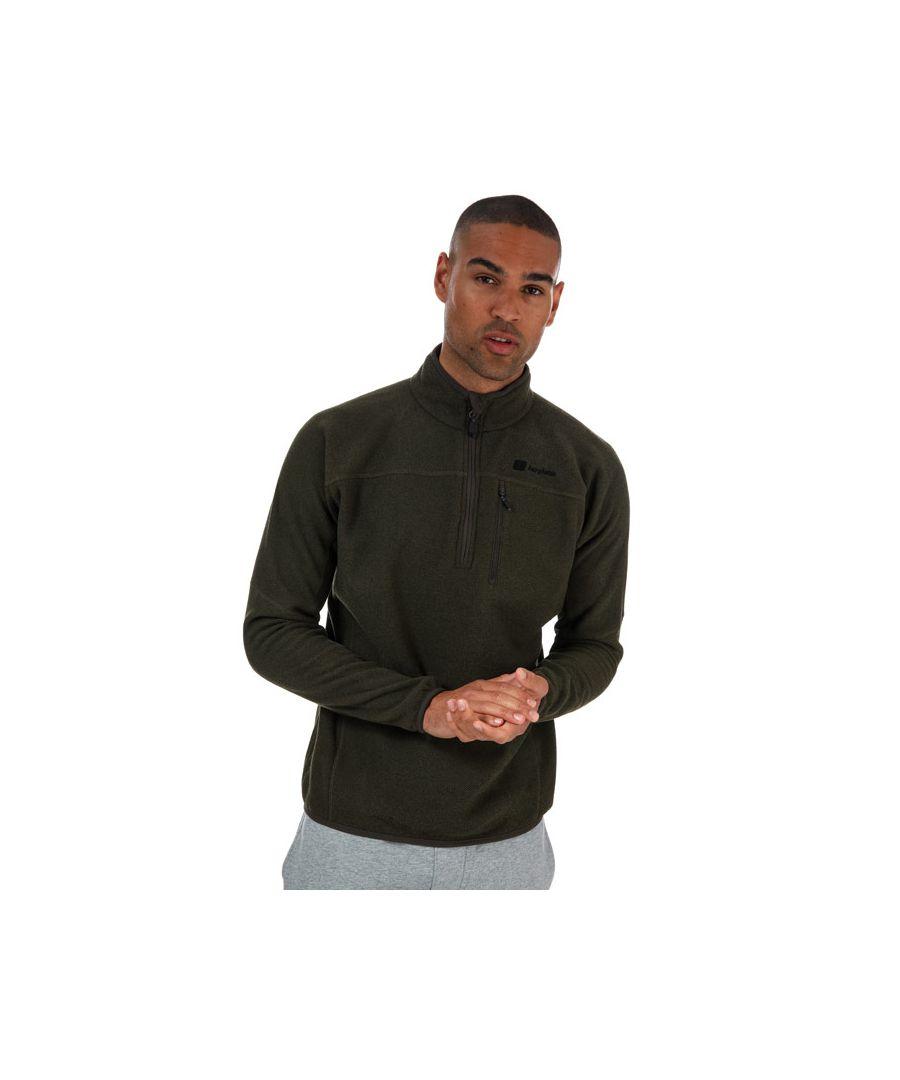 Image for Men's Berghaus Stainton Half Zip Fleece Green XSin Green