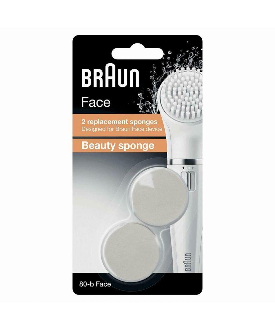 Image for Braun Silk Epil Fce Se80-B Bty Spnge Ref 2ct
