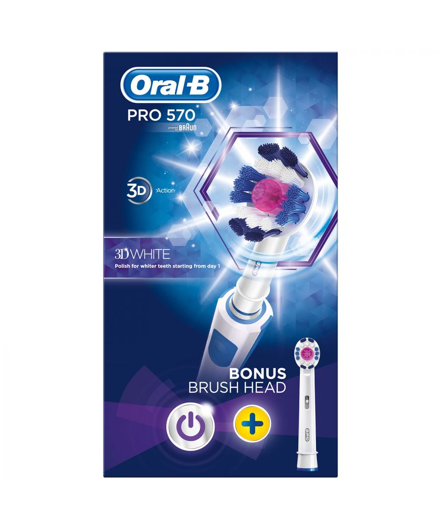 Image for Oral B Pro 570 3D White Pink Limited Edition Brush and Refill Head