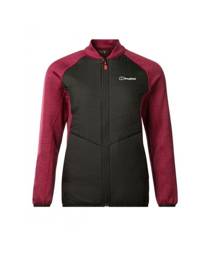 Image for Berghaus Hybrid Womens Jacket Black/Red - UK 12