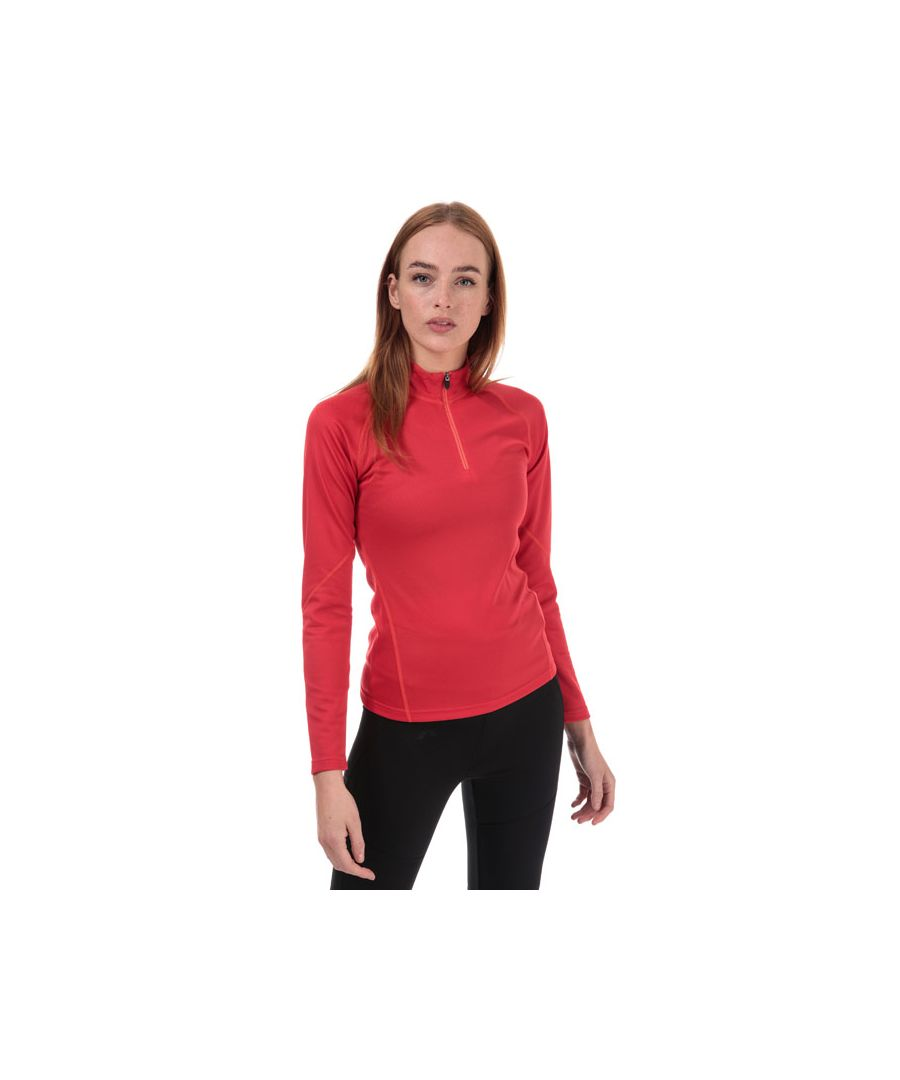 Image for Women's Berghaus Long Sleeve Zip Neck 2.0 T-Shirt in Pink