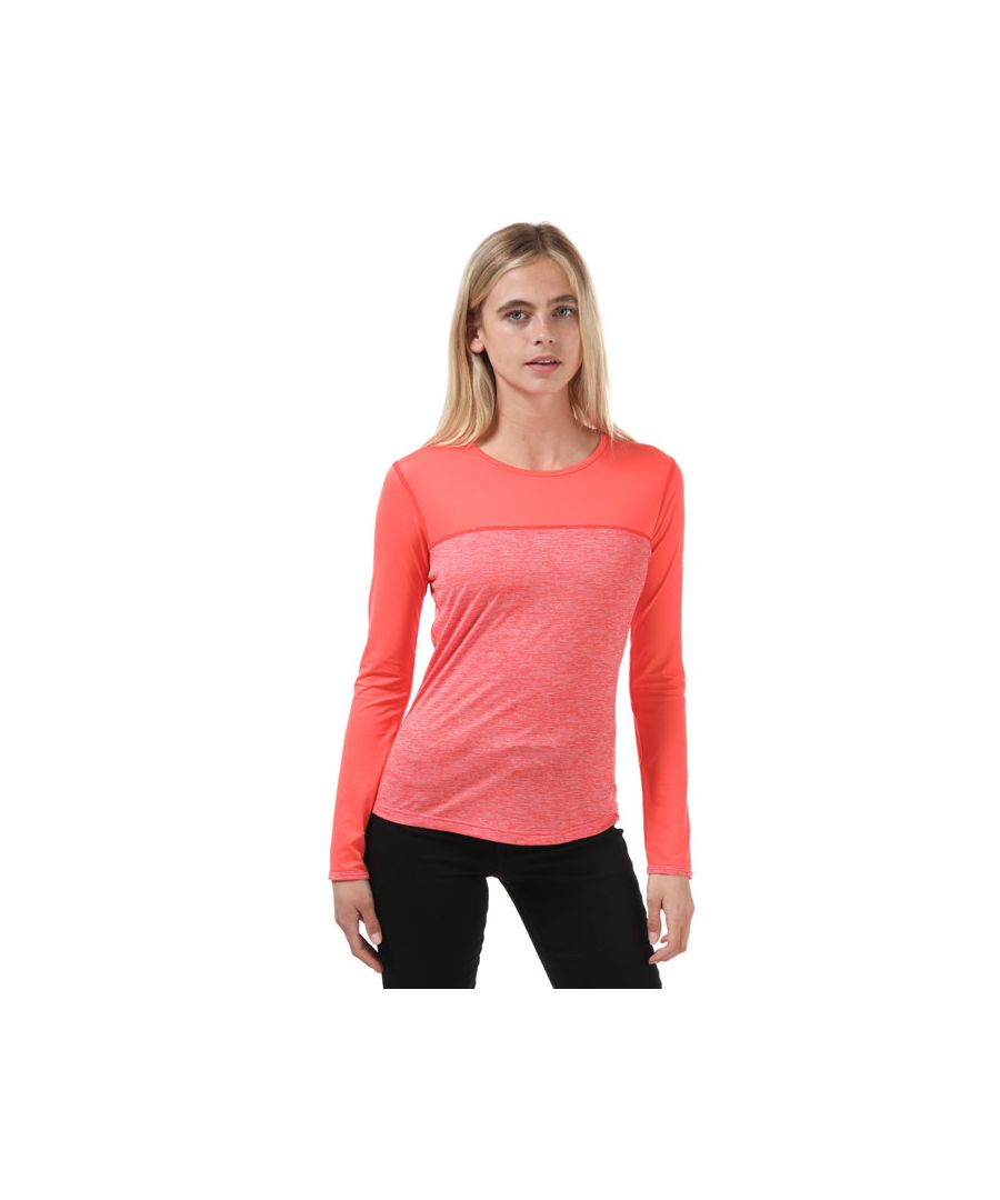 Image for Women's Berghaus Voyager Tech Long Sleeve T-Shirt Pink 10in Pink