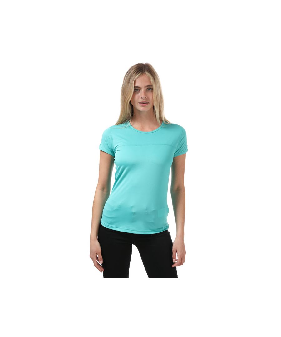 Image for Women's Berghaus Voyager Tech T-Shirt Blue 8in Blue
