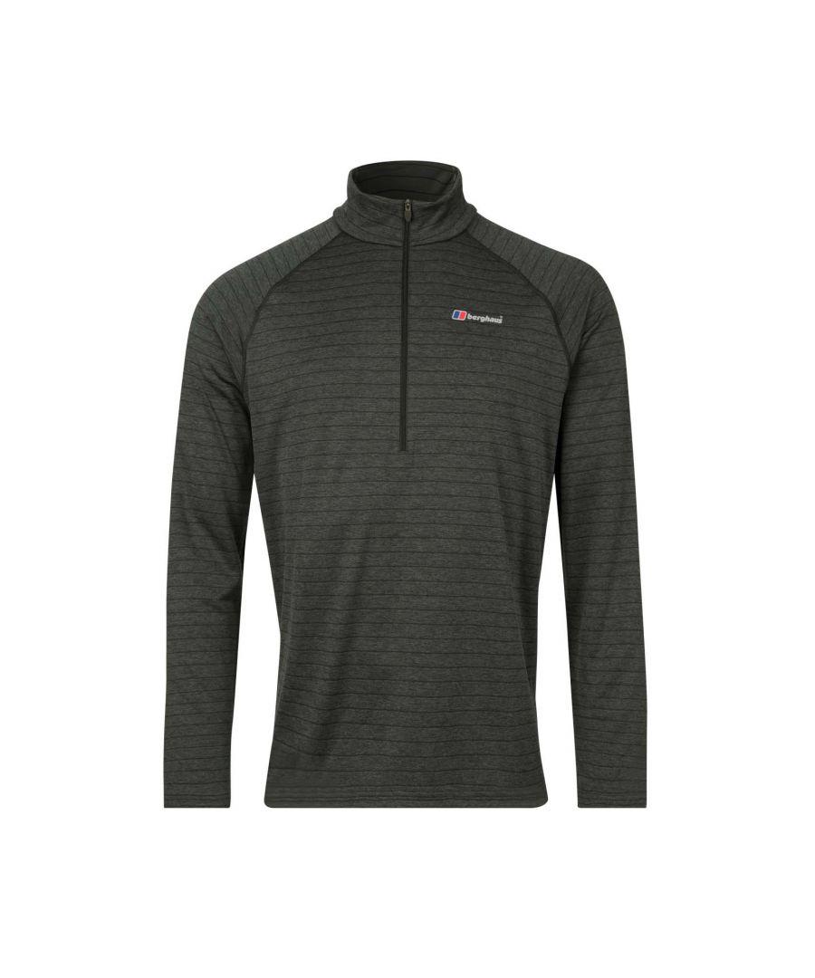 Image for Berghaus Thermal Tech 1/2 Zip Mens Long Sleeve Shirt Grey - XXL