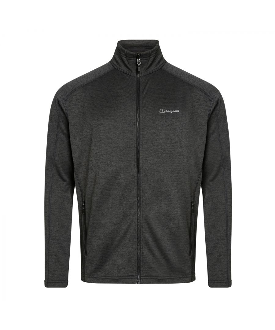 Image for Berghaus Spitzer Mens Full Zip Hooded Fleece Jacket Grey